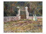Entrance to the Voyer-D'Argenson Park at Asnieres Giclee Print by Vincent van Gogh