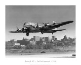 Boeing B-307 on Final Approach, 1940 Poster