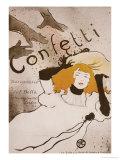 Confetti Prints by Henri de Toulouse-Lautrec