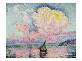 Pink Clouds, Antibes Posters av Paul Signac
