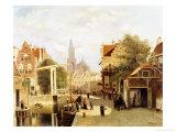 A Street Scene, Amsterdam Giclee Print by Johannes Frederick Hulk