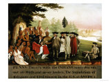 Penn's Treaty with the Indians Giclee Print by Edward Hicks