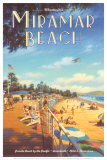 Miramar Beach, Montecitos Poster von Kerne Erickson