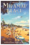 Miramar Beach, Montecitos Poster von Kerne Erickson