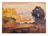 A View of Menton Giclee Print by Henri Edmond Cross