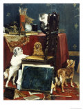 Chaos in the Studio, 1887 Premium Giclee Print by Charles Van Den Eycken
