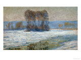 The Seine at Bennecourt, Winter Giclee Print by Claude Monet