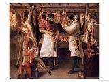 The Butcher's Shop Giclée-tryk af Annibale Carracci