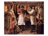 The Butcher's Shop Art by Annibale Carracci