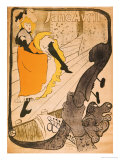 Jane Avril Reproduction procédé giclée par Henri de Toulouse-Lautrec