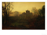 An October Afterglow Posters by John Atkinson Grimshaw
