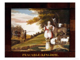 Peaceable Kingdom Giclee Print by Edward Hicks