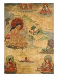 An East Tibetan Thang.ka Depicting Mi.La.Ras.Pa, 19th Century Giclee Print