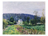 Hills Surrounding Paris Prints by Alfred Sisley