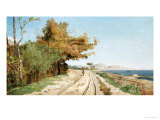 Road on the Edge of the Mediterranean, Near Marseille Giclee Print by Paul Guigou