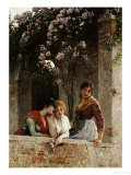 On the Terrace Giclee Print by Eugene de Blaas