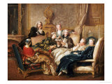 La Lecture De Moliere Giclee Print by Jean-francois De Troy
