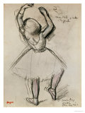 Backview of a Dancer Giclee Print by Edgar Degas