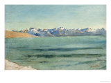 Sunrise over Mont Blanc Giclee Print by Ferdinand Hodler