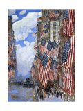 The Fourth of July, 1916 Láminas por Childe Hassam
