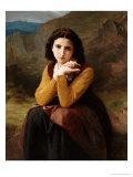Reflective Beauty Impression giclée par William Adolphe Bouguereau