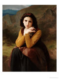 Reflective Beauty Giclee Print by William Adolphe Bouguereau