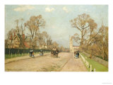 The Road to Sydenham Gicledruk van Camille Pissarro