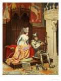 An Arthurian Legend Giclee Print by Jean Louis Meissonier
