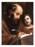 Saint Matthew Giclee Print by Matteo Rosselli