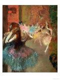 Scene De Ballet or Balleteuses Giclée-tryk af Edgar Degas