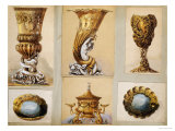 A Selection of Designs from the House of Carl Faberge Reproduction procédé giclée par Carl Faberge