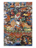 A Tibetan Thang.ka Depicting Shri Devi Seated Astride Her Mule, circa 1900 Prints
