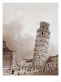 The Leaning Tower Giclee Print by Jean-Baptiste Isabey