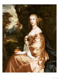 Lady Penelope Nicholas, Three-Quarter Length Seated, Wearing a Brown Dress and White Chemise Prints by Sir Peter Lely