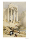 The Western Portico, Baalbec Prints by David Roberts