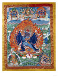 A Fine Tibetan Thang.ka Depicting Vajrabhairava with His 18 Legs and 36 Arms 18th Century Giclee Print