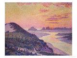 Sunset at Ambleteuse, Pas De Calais Posters by Théo van Rysselberghe
