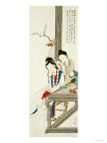 Two Court Ladies Posters by Hu Xigui