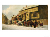 Outside the George Inn Giclee Print by John Charles Maggs