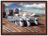 New York Central's 20th Cenury Limited Prints by Larry Grossman