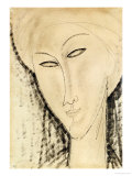 Head of a Woman Stampa giclée di Amedeo Modigliani