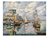 Le Port De Barfleur Posters by Paul Signac