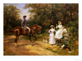 A Meeting by the Stile Giclee Print by Heywood Hardy