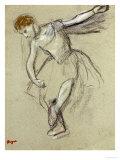 A Dancer Seen in Profile Poster von Edgar Degas