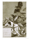 The Sleep of Reason Produces Monsters Print by Francisco de Goya