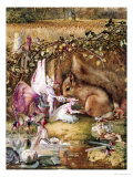 The Wounded Squirrel Art by John Anster Fitzgerald