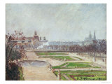 The Tuileries Gardens and the Louvre Print by Camille Pissarro