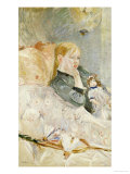 Young Girl with a Puppet Giclee Print by Berthe Morisot