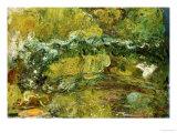 Den Japanske Bro Giclée-tryk af Claude Monet
