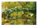 The Japanese Bridge Giclee Print by Claude Monet